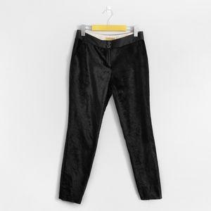 TED BAKER Black Velvet Tuxedo Skinny Dress Pants